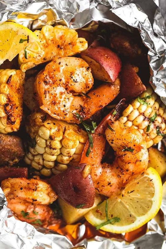 Shrimp Foil Packets Are The No-Mess Grilled Dinner Of Your Dreams