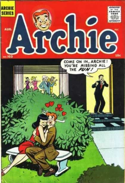Classic Book Cover Up : Archie bush august hug hearts party