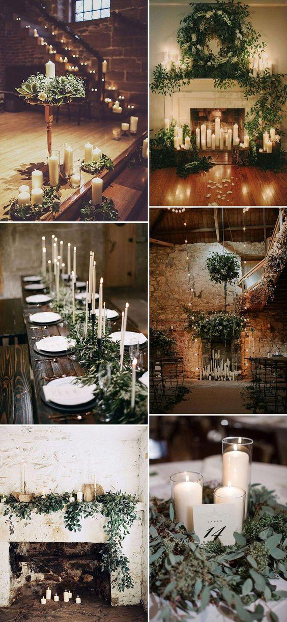Candles   Candle Light   10 Tips For a Stylish Winter Wedding   Christmas Wedding   Festive Wedding   December Wedding #weddingday