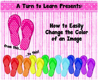how to easily change the color of your images!