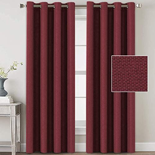 H Versailtex Linen Blackout Curtains 84 Inches Long For Bedroom Living Room Thermal Insulated In 2020 Linen Blackout Curtains Curtains Country Curtains