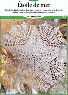 Star of the sea doily crochet chart