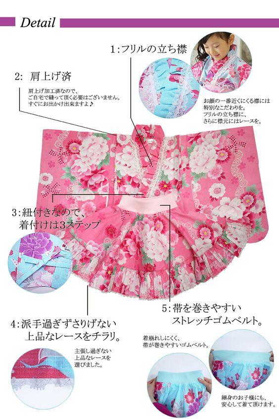 "< Sale of semi-annual financial > yukata dress ""sweet candy"" kids yukata dress separates children kids children for yukata 100 110 120 130"