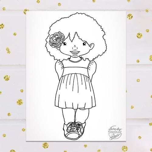 Smiling Sunbeam Girl Coloring Page Coloring Pages For Girls
