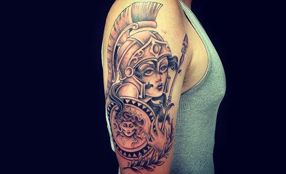 Tatuagens de Atena: significado e fotos para se inspirar