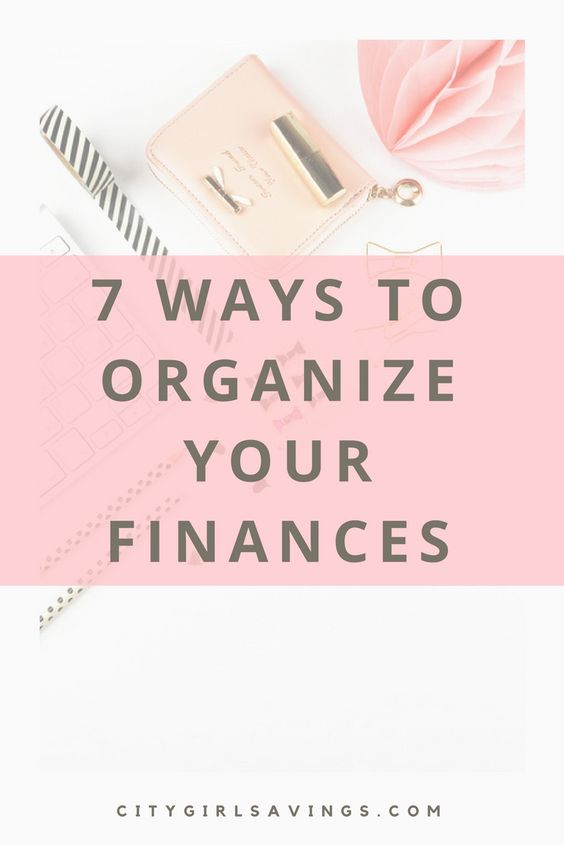 Organizing your finances is a must have for success without the stress! The CGS Team is sharing 7 ways to organize your finances and keep them that way! Organizing tips, financial advice, money saving tips.