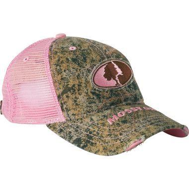 cabela s s mossy oak 174 pink camo mesh back cap
