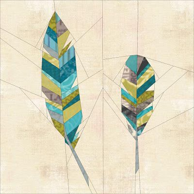 Feathers. Paper pieced quilt block tutorial. Very nice! Downloadable template for paper piecing at https://docs.google.com/file/d/0B_qOx6kCHo1xa0QyT00wa1lxQ2c/edit: