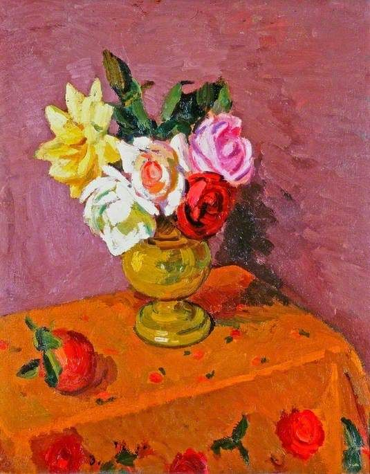 Roses in a Vase, Duncan Grant (1885–1978), Laing Art Gallery