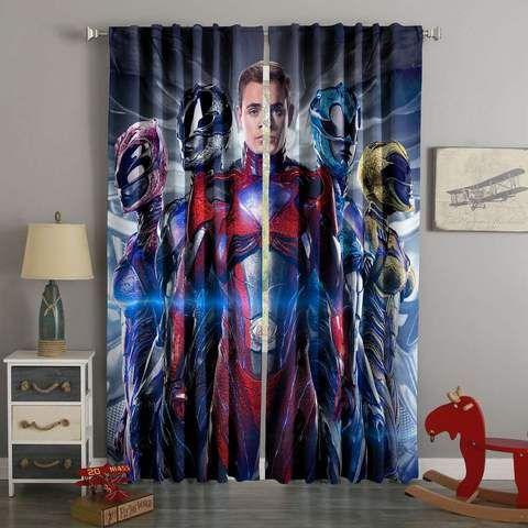 3d Printed Power Rangers Style Custom Living Room Curtains Cortinas Para Ninos Cortinas Ninos