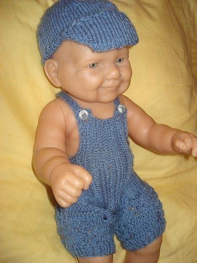 Fiche gratuite vêtements de poupée N°148: salopette et casquette