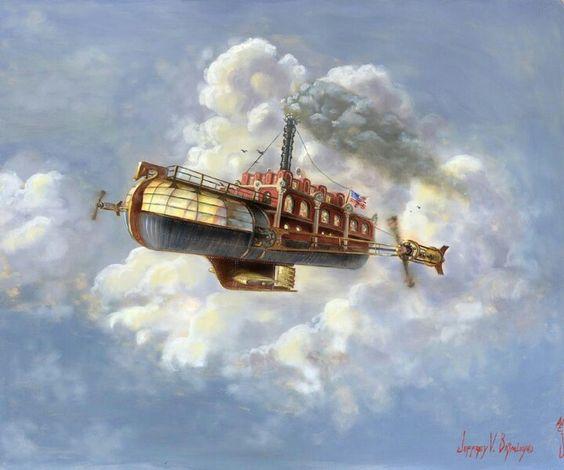 """Airship"" by Jeff Brimley  #Steampunk #Airship:"