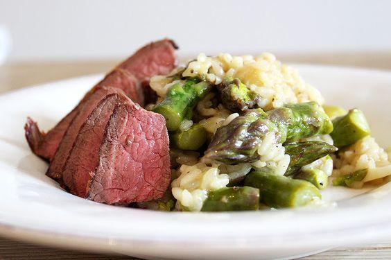 Spargel-Risotto mit Rindshuft | risotto asparagus and tenderloin steak
