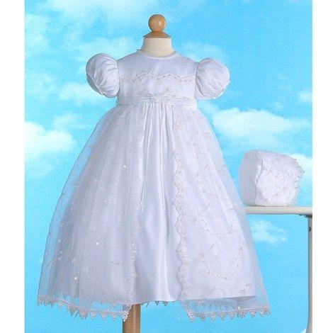 Christening Organza Dress (0-12m)  Burlington Coat Factory ...