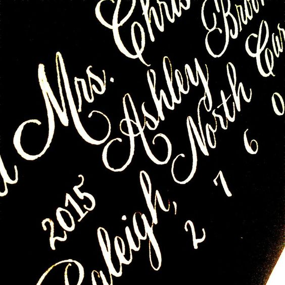 Silver Calligraphy Ink In Rook Script Looks White In