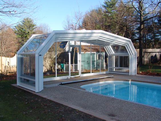 Unique ideas for pool enclosures good for all seasons for Plexiglass pool enclosure