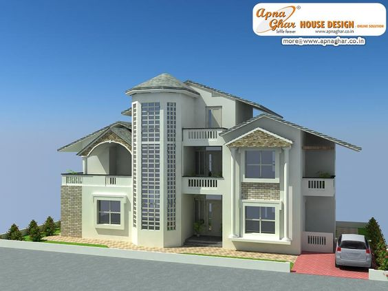 5 Bedroom Modern Bungalow House Design Area 360 Sq Mts