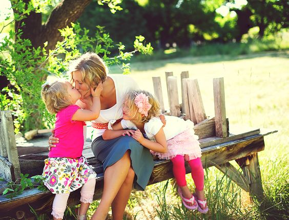 This is my cousin's wife and their daughters.  This picture just makes my heart smile.