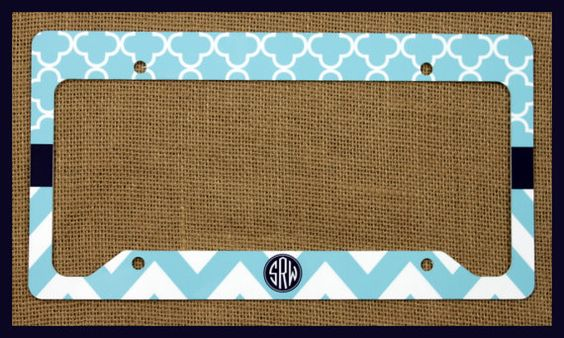 License Plate Frame Monogrammed Personalized by ChicMonogram, $25.00