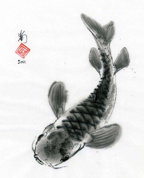 Koi carp and fish on pinterest for Colored porcelain koi fish wind chime