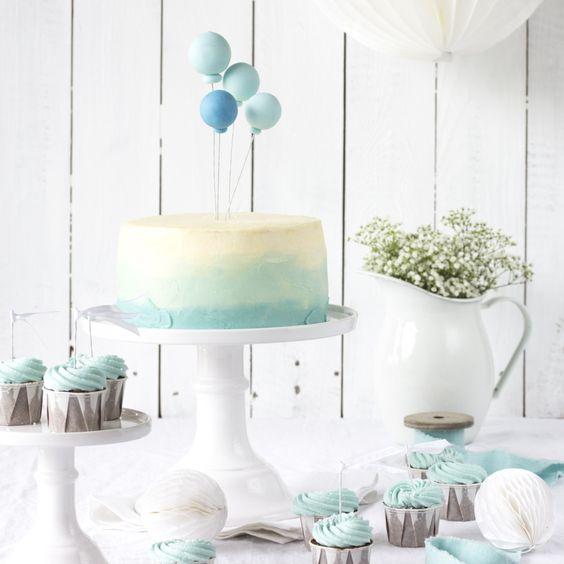 Ballon-Ombré-Törtchen + Schoko-Cupcakes-6