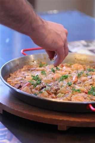 Frying Pan Paella Mixta (Paella With Seafood And Meat ...