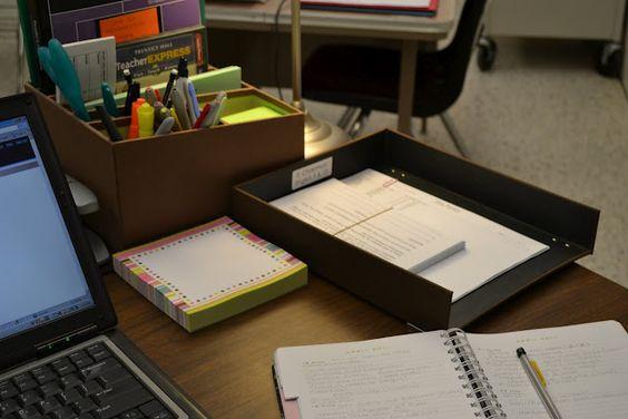 Classroom Organization Ideas High School ~ Classroom organization tips desk