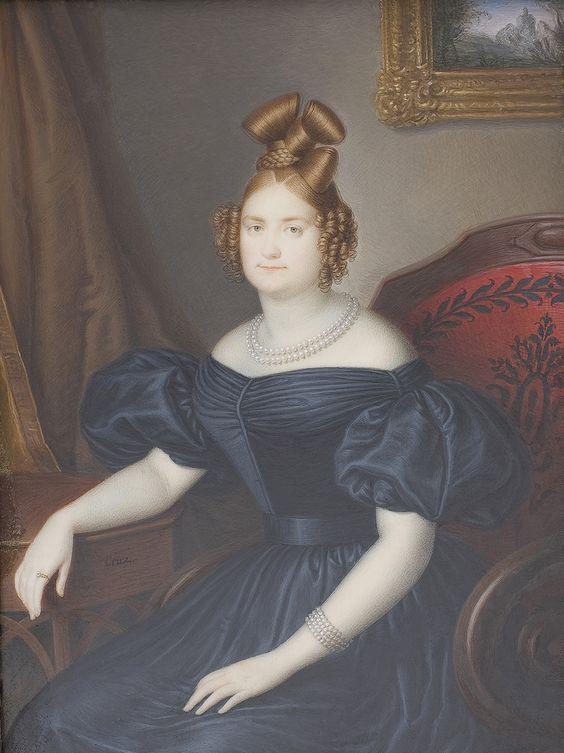 1830 Luisa Carlota, hija de Francisco I de las Dos Sicilias by Luis de la Cruz y Ríos (Museo Nacional del Prado - Madrid Spain)