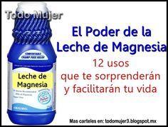 La leche de magnesia, aparte de ser un laxante y antiácido, es un gran aliado para nuestra salud, belleza y nos facilita a todas las mu...