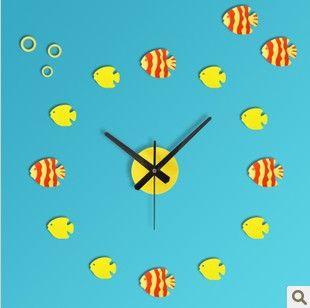 unique clock   ... clock-modern-design-kids-room-decoration-childrens-wall-clocks-unique