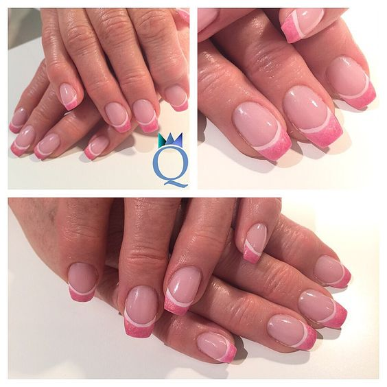 #gelnails #nails #double #french #pink #white #coffin #shape #gelnägel #nägel #doppel #french #pink #weiss #ballerina #form #nailqueen_janine #nagelstudio #möhlin