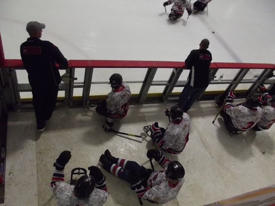 The USA Warriors at the Disabled Hockey Festival.