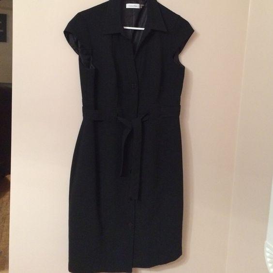 Calvin Klein Dress Black Calvin Klein Button Up Dress Calvin Klein Dresses Midi