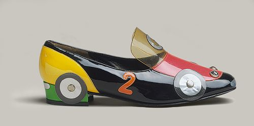 car shoe.  Katharina Denzinger for Herbert Levine, Inc. 1965.