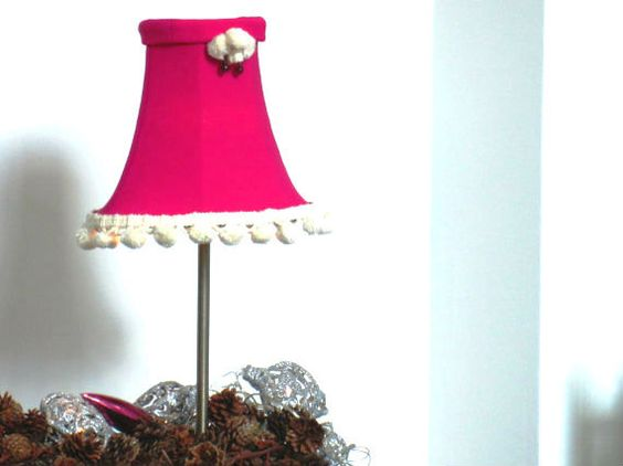 Dark Pink Fabric Lampshade  Modern Neoprene by DepartmentofCalm