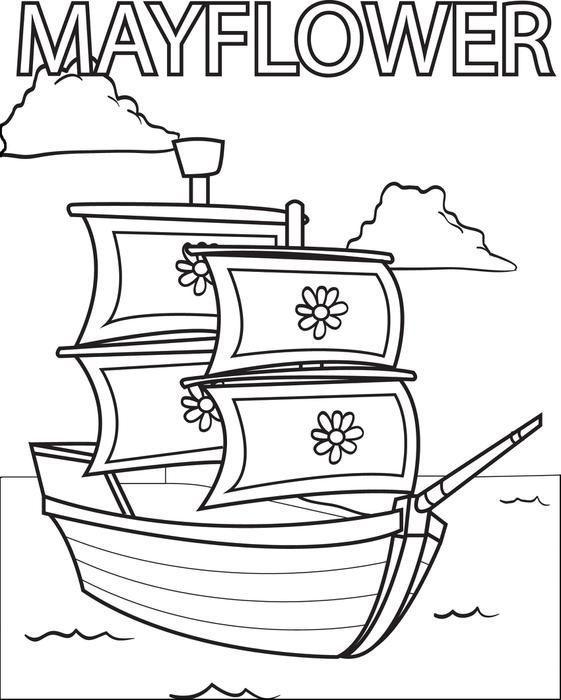 Mayflower Coloring Sheet Di 2020