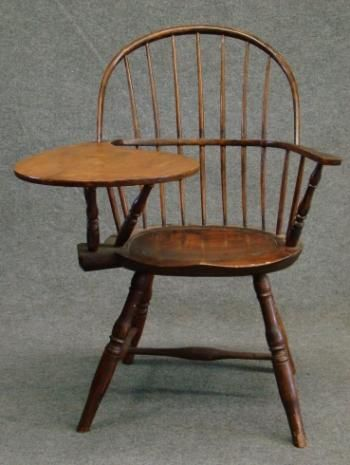 circa 1800 Writing Arm Bow-Back Windsor Chair