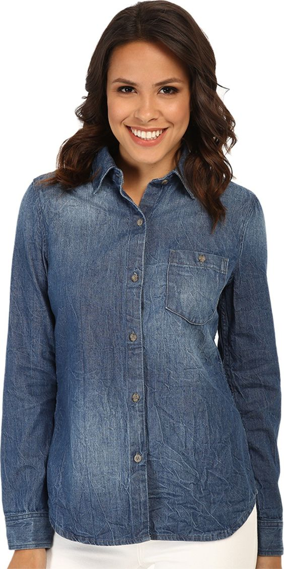 AG Adriano Goldschmied Women's Finch Shirt Immersion Button-up Shirt MD (US 6-8). Made in USA.