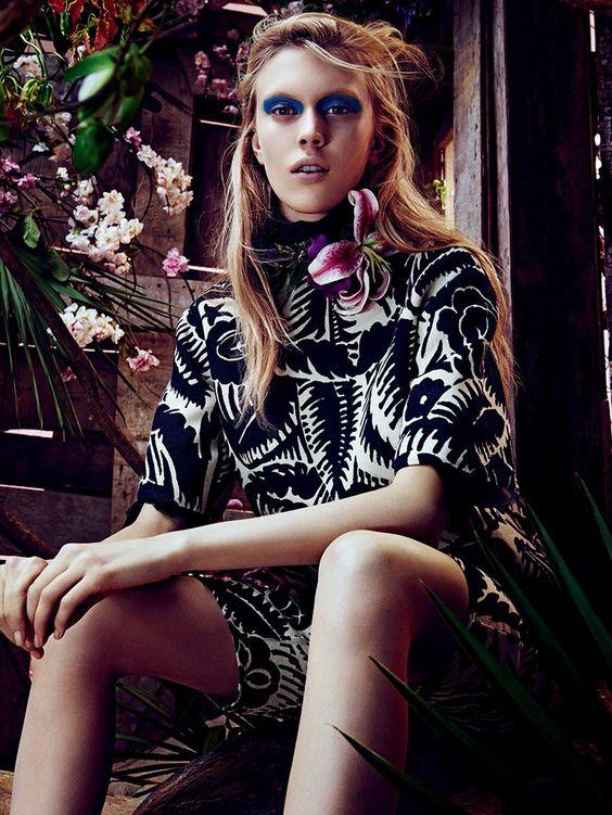 Juliana Schurig by Sharif Hamza for Vogue Japan March 2014