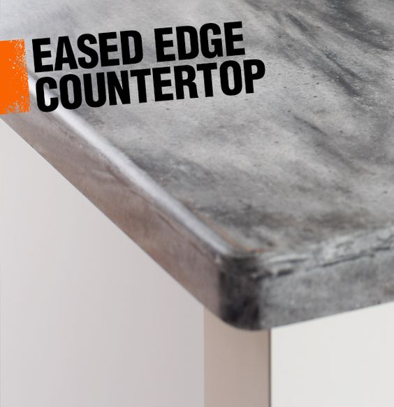 Countertop Eased Edge : edge countertop where the edge forms a perfect right angle, an eased ...