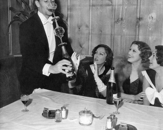 Hollywood celebrities toasting the end of Prohibition - December 1933
