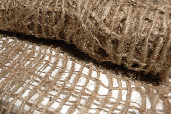 Loose Weave Burlap Curtains Or Fabric Open Weave Natural