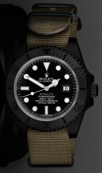 Project X Designs Stealth Rolex Submariner Watches