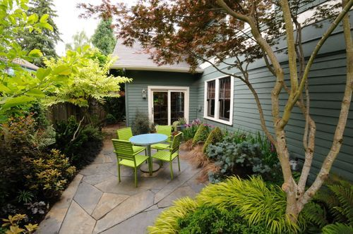Love the feel of this garden - japanese maples are my favorite - but it may be difficult to make a water savvy version that feels so lush. Maybe not.