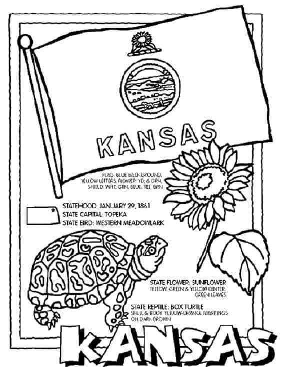 Printable Kansas Day Coloring Pages Free Coloring Sheets Kansas Day Kansas State Flag Flag Coloring Pages