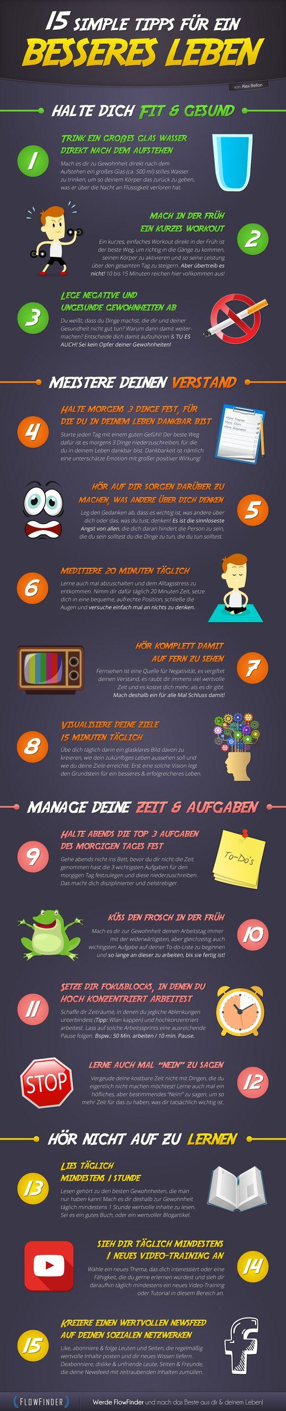 15 simple Tipps für ein besseres Leben