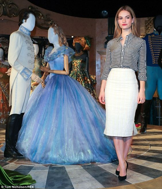 Chic Lily James Reunites With Her Controversial Cinderella