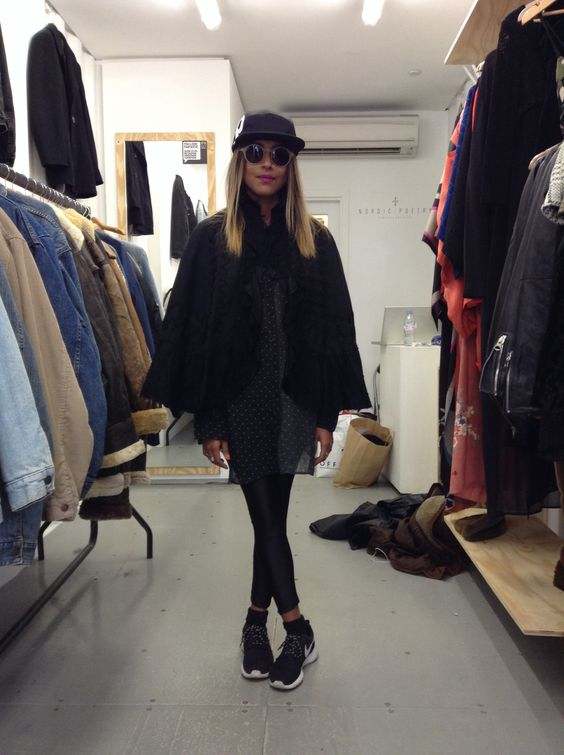 Here she is again at our shop #Boxpark  #VictorianCape #Cape #vintage