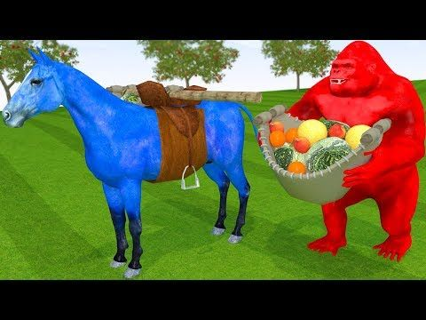 King Kong Learn Fruits Learn Colors Horse Carrying Fruit W Cartoon Nursery Rhymes For Children Youtube Kids Nursery Rhymes Rhymes For Kids Nursery Rhymes