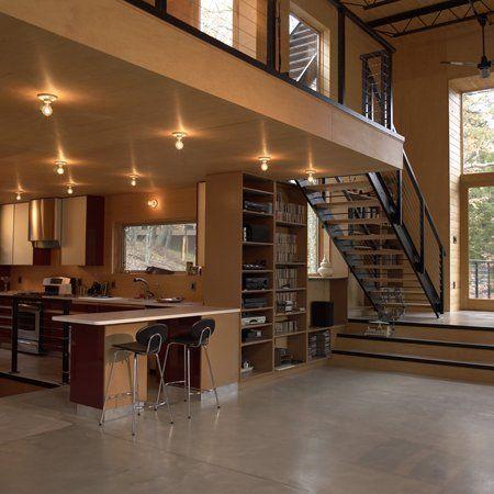 Loft house loft and modern lofts on pinterest for Loft in house